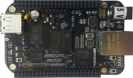 BeagleBone Black c 4 ГБ eMMC памяти.