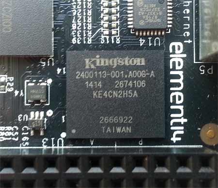 В два раза увеличен объем eMMC памяти: 4 ГБ на BeagleBone Black Rev C.