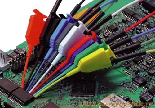 Мини-клипсы. предназначены для подключения входных разъемов измерительных приборов к элементам...