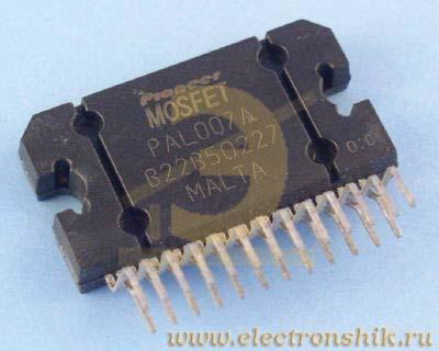 Усилитель НЧ 4х40 Вт (TDA7386, авто) Аналог усилителя NM2031 на микросхеме TDA7386.  Отличие заключается в выходной.