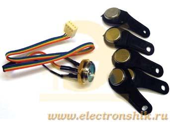 комплект ключей IButton (5 штук) + высококачественный считыватель для врезки в металлическую дверь.