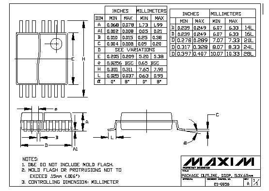 Цена MAX3250CAI+