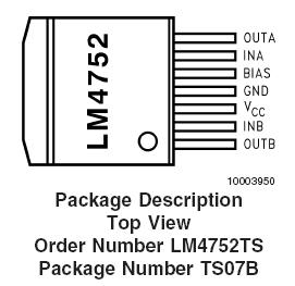 Цена LM4752TS/NOPB